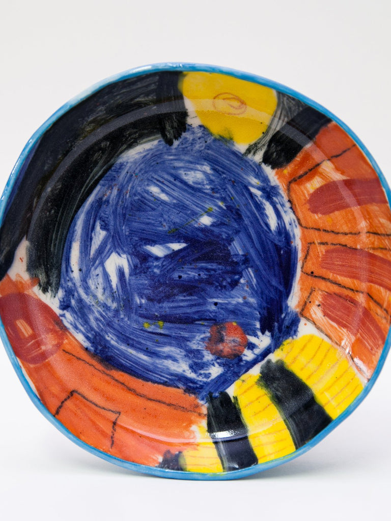 Yaara Oren Granny Ceramic Plate- Abstract Artwork II - Moxie Tel-Aviv