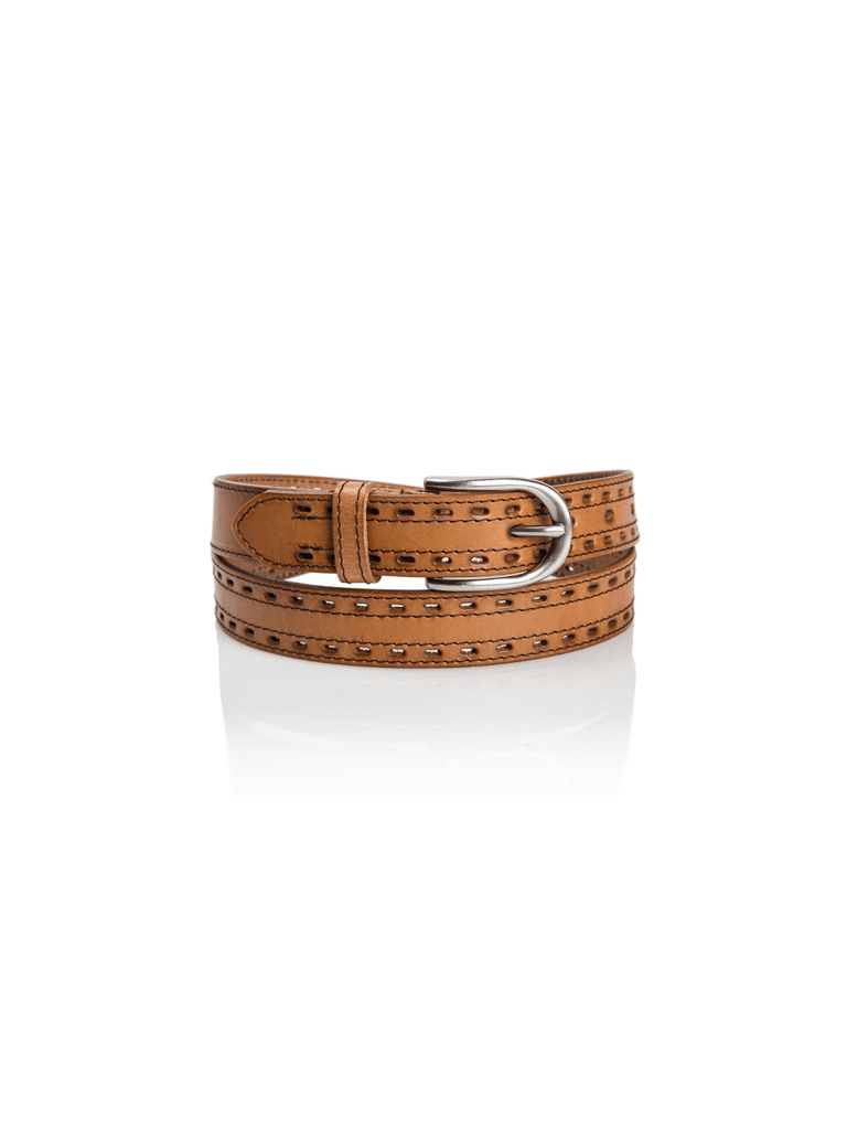 Zucker Light Brown Basic Belt - Moxie Tel-Aviv