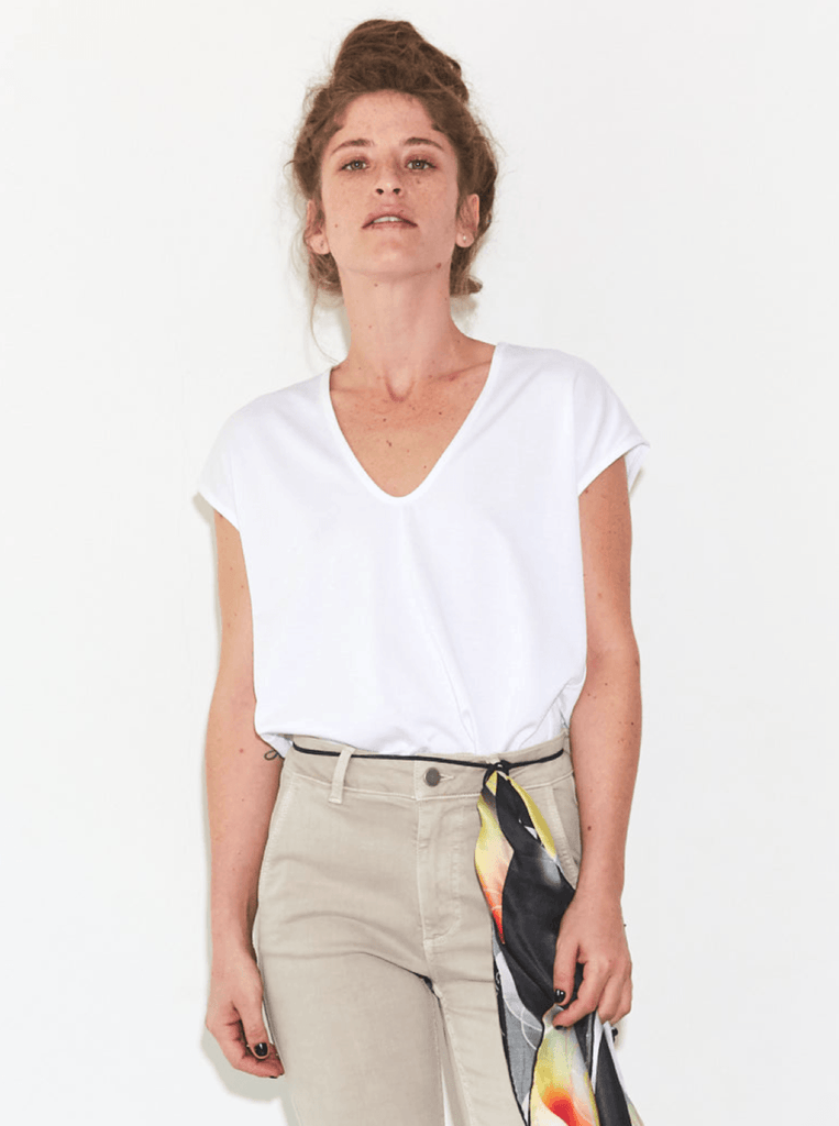 Zucker The Basic Essential T-Shirt - White - Moxie Tel-Aviv