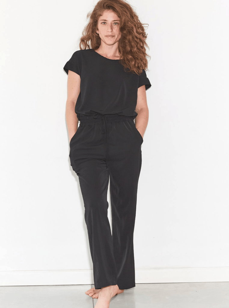 Zucker The Open Back Jumpsuit - Black - Moxie Tel-Aviv