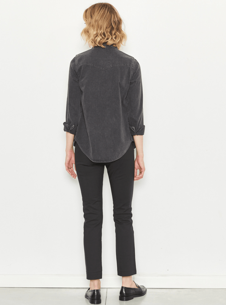 Zucker The Super Cool Denim Shirt - Grey - Moxie Tel-Aviv