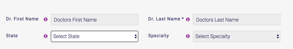 Enter Doctors Name On Website