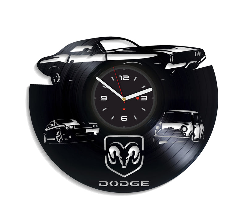 Vinil Clock dodge, Wall Clock, Vinyl Art, Wall Art, Christmass Gift, Home Decor Clock, dodge 224