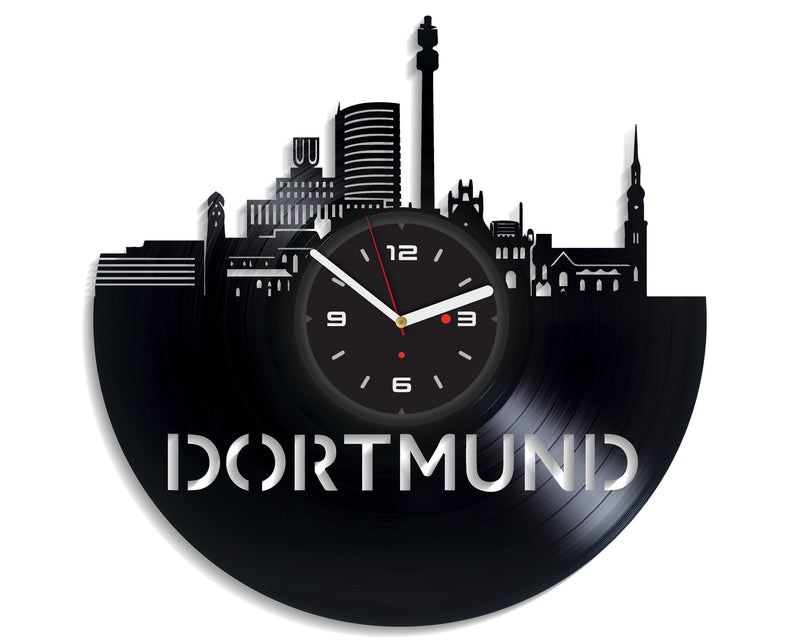 Vinil Clock dortmund, Wall Clock, Vinyl Art, Wall Art, Christmass Gift, Home Decor Clock, dortmund 2058