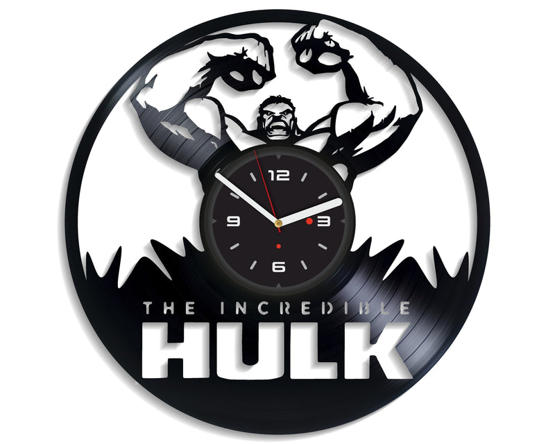 Vinil Clock hulk, Wall Clock, Vinyl Art, Wall Art, Christmass Gift, Home Decor Clock, hulk 422