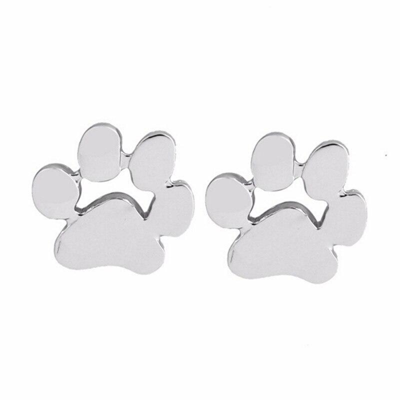 1 pair New Fashion Cute Cat and Dog Paw Stud Earrings brincos Paw Print Earrings for Women - Dangle & Drop Earrings