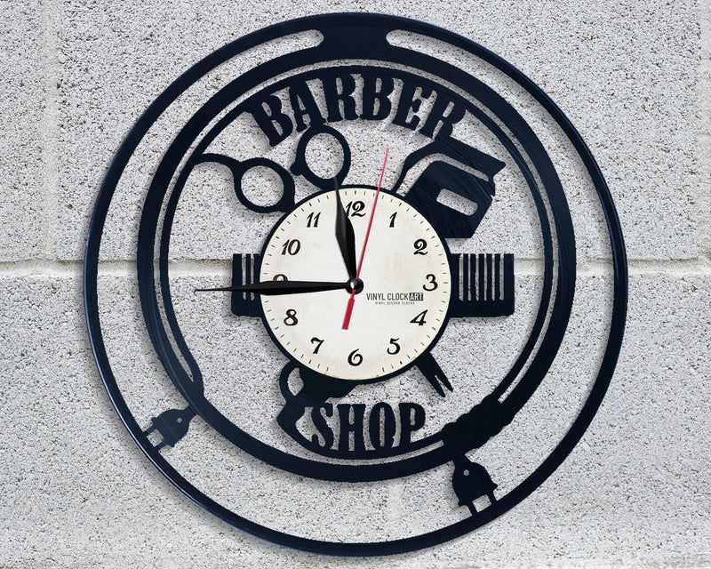 Fantastic wall clock for Barber Logo hater