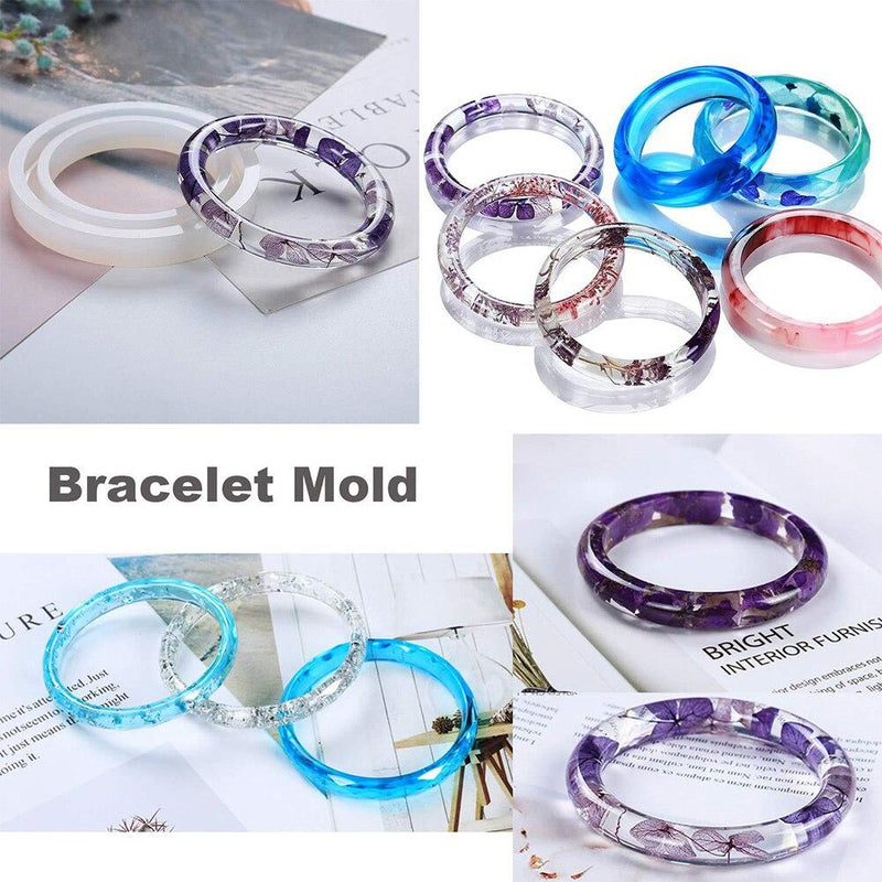 229pcs Casting Non-Stick Practical Non-Toxic Decorating Tool Jewelry Mold Set Silicone Craft DIY Pendant Making Bracelet - Molds
