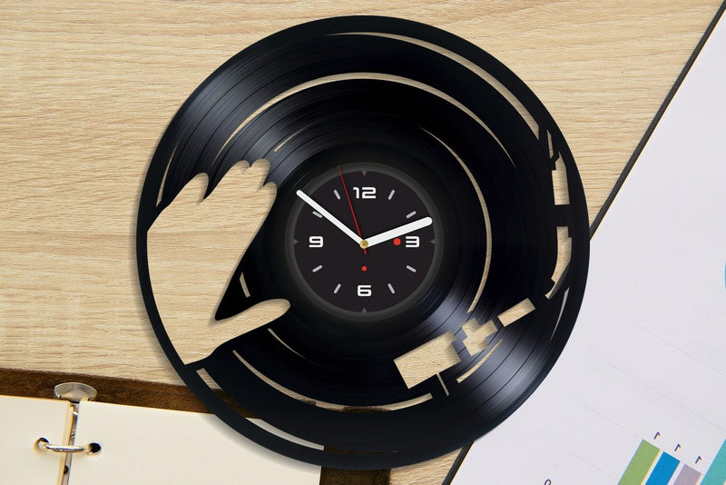 Vinil Clock dj, Wall Clock, Vinyl Art, Wall Art, Christmass Gift, Home Decor Clock, dj 4143