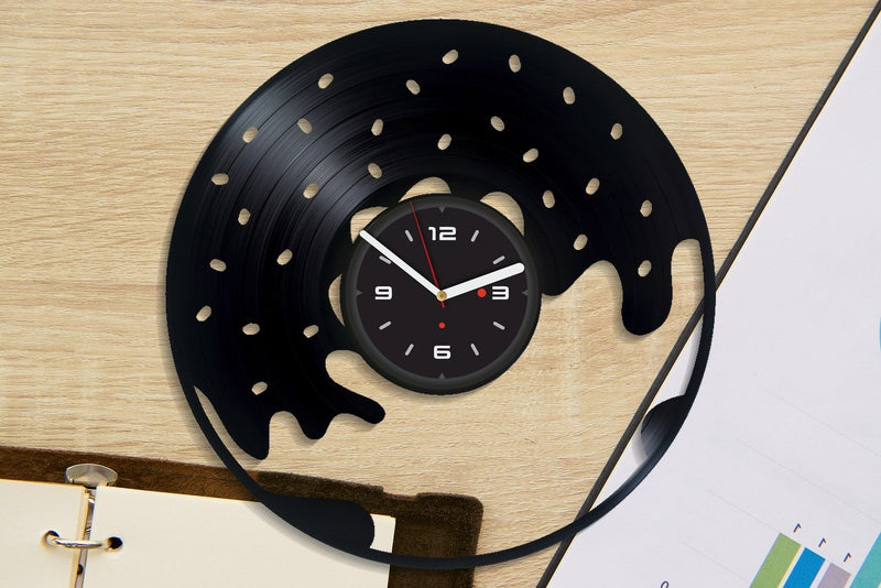 Vinil Clock donat, Wall Clock, Vinyl Art, Wall Art, Christmass Gift, Home Decor Clock, donat 3060