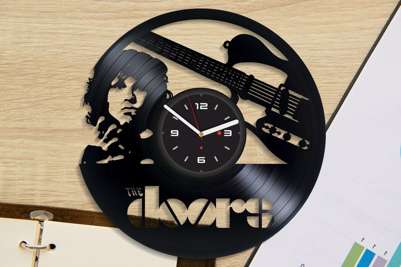 Vinil Clock doors, Wall Clock, Vinyl Art, Wall Art, Christmass Gift, Home Decor Clock, doors 226