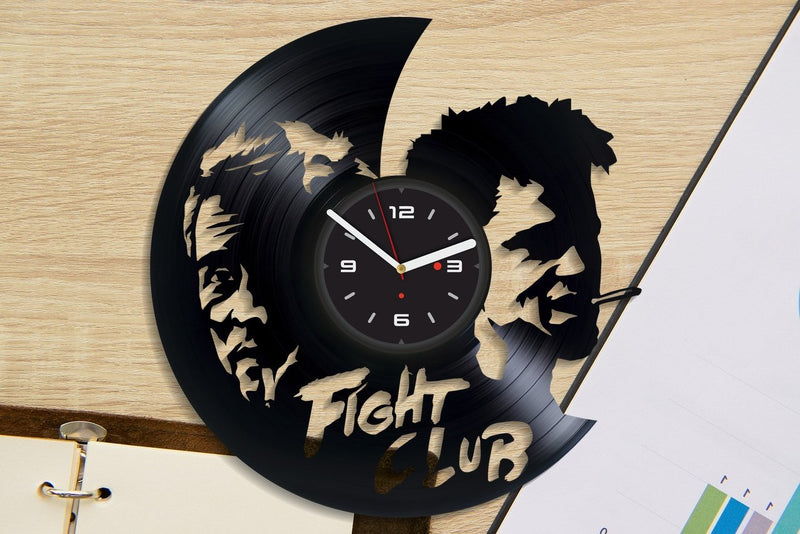 Vinil Clock fight club, Wall Clock, Vinyl Art, Wall Art, Christmass Gift, Home Decor Clock, fight club 1083
