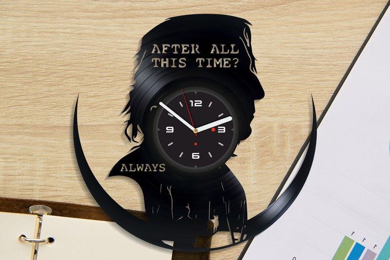 Vinil Clock harry potter, Wall Clock, Vinyl Art, Wall Art, Christmass Gift, Home Decor Clock, harry potter 1096