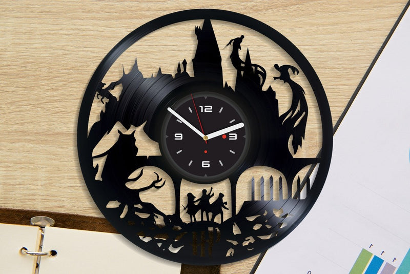 Vinil Clock harry potter, Wall Clock, Vinyl Art, Wall Art, Christmass Gift, Home Decor Clock, harry potter 402