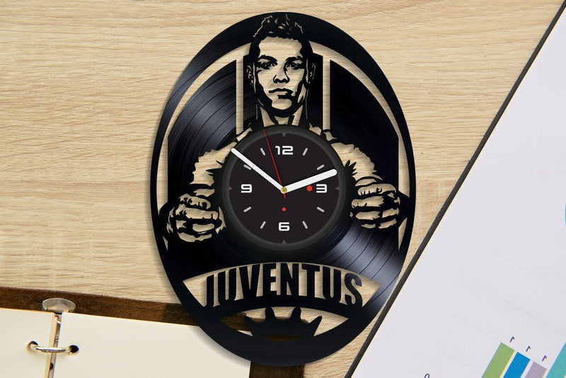 Vinil Clock juventus, Wall Clock, Vinyl Art, Wall Art, Christmass Gift, Home Decor Clock, juventus 474