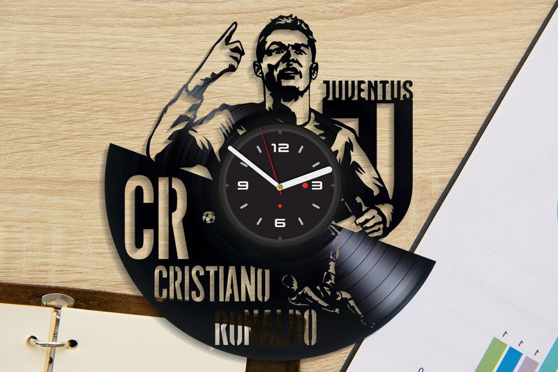 Vinil Clock juventus, Wall Clock, Vinyl Art, Wall Art, Christmass Gift, Home Decor Clock, juventus 476