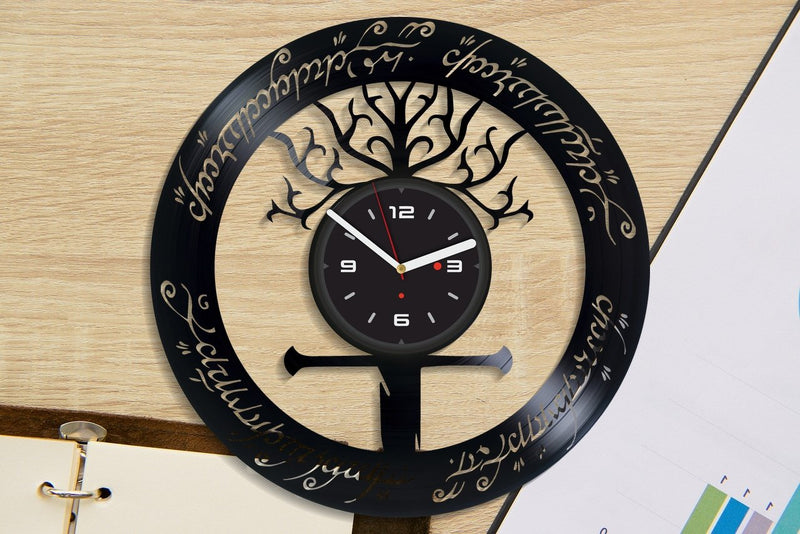 Vinil Clock lord of the rings, Wall Clock, Vinyl Art, Wall Art, Christmass Gift, Home Decor Clock, lord of the rings 534