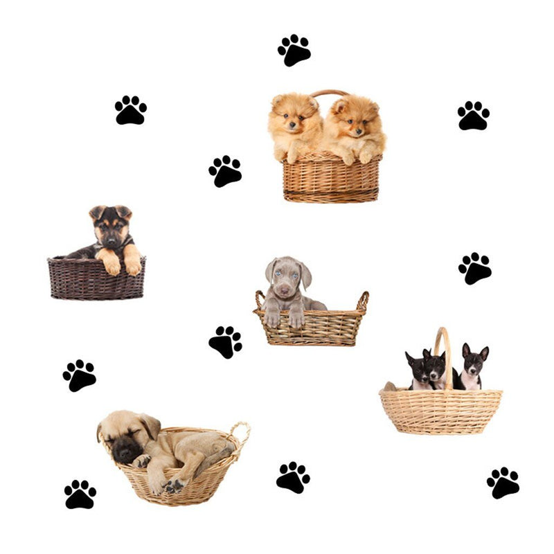 3D Funny Cute Pets Dog Cat Wall Stickers for Bedroom Living Room Wall Decorations for Kids Boys And Girl Room - Wallpaper