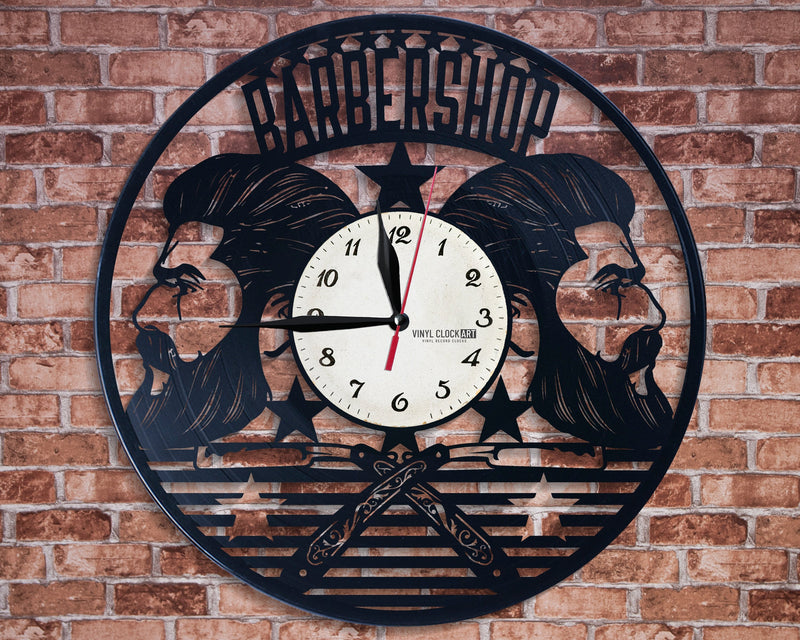 The clock you want to have on your wall, because it is in Barber Shop style