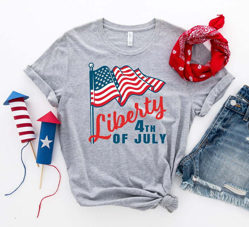 4th of July USA Unisex Tee - Cute United States of America Patriotic