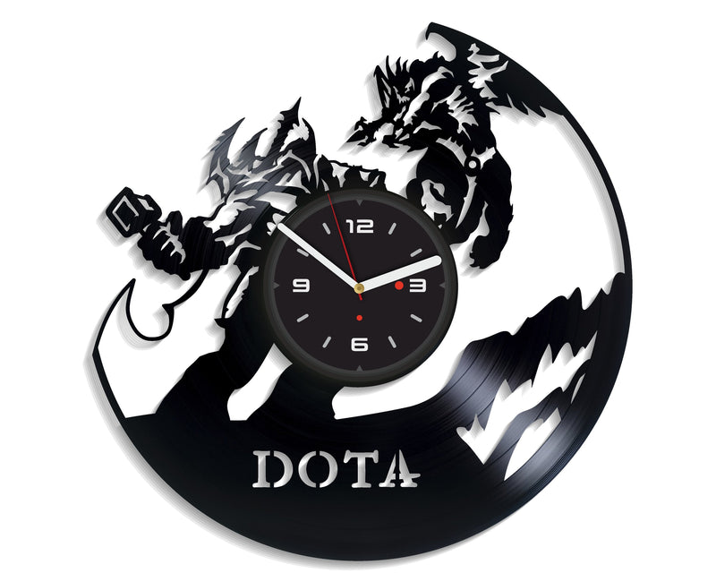 Vinil Clock dota, Wall Clock, Vinyl Art, Wall Art, Christmass Gift, Home Decor Clock, dota 232