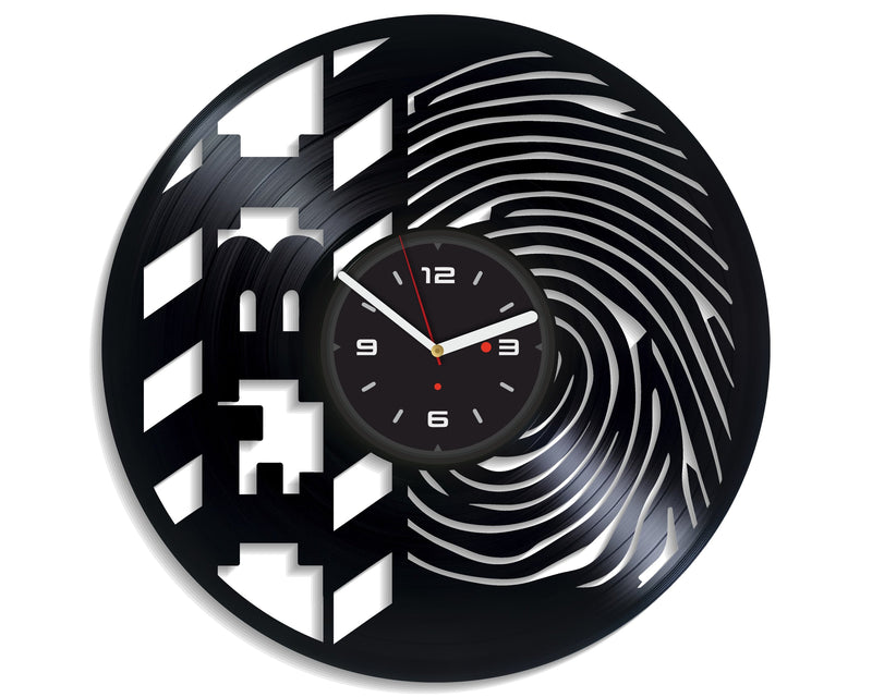 Vinil Clock fbi, Wall Clock, Vinyl Art, Wall Art, Christmass Gift, Home Decor Clock, fbi 4174