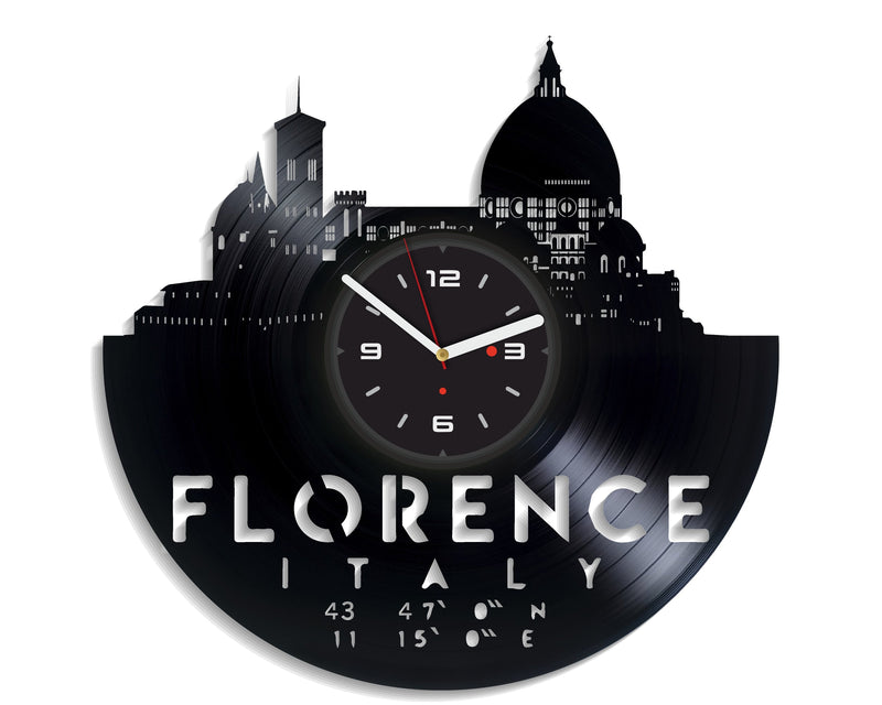 Vinil Clock florence, Wall Clock, Vinyl Art, Wall Art, Christmass Gift, Home Decor Clock, florence 3088