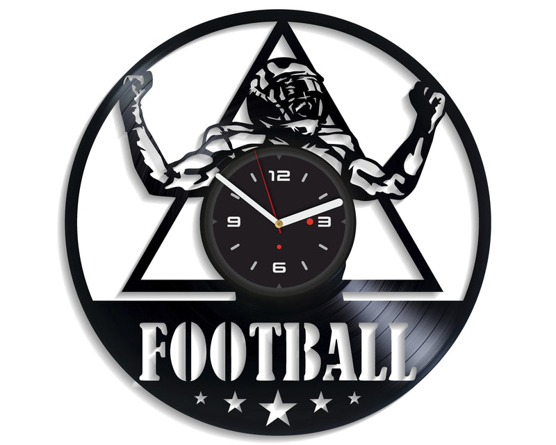 Vinil Clock football, Wall Clock, Vinyl Art, Wall Art, Christmass Gift, Home Decor Clock, football 4197