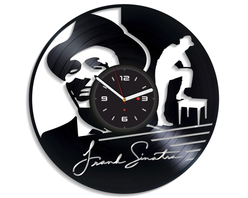 Vinil Clock frank sinatra, Wall Clock, Vinyl Art, Wall Art, Christmass Gift, Home Decor Clock, frank sinatra 285