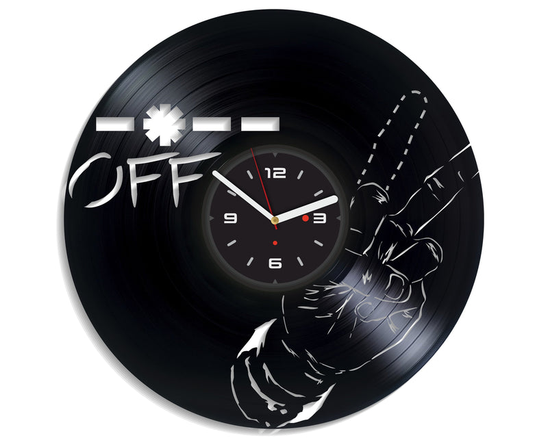 Vinil Clock fuck off, Wall Clock, Vinyl Art, Wall Art, Christmass Gift, Home Decor Clock, fuck off 4200