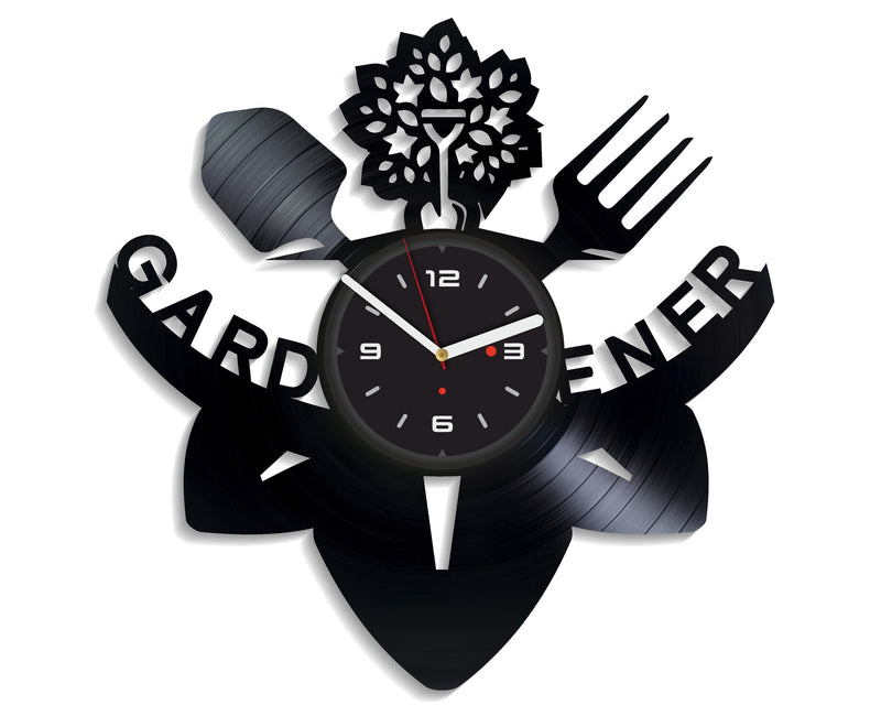 Vinil Clock garden, Wall Clock, Vinyl Art, Wall Art, Christmass Gift, Home Decor Clock, garden 2078