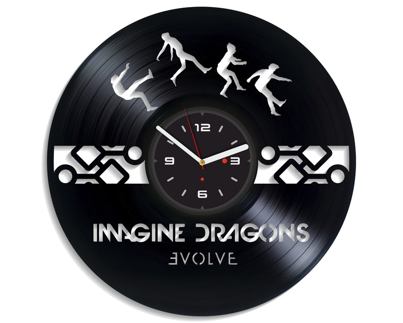 Vinil Clock imagine dragons, Wall Clock, Vinyl Art, Wall Art, Christmass Gift, Home Decor Clock, imagine dragons 435