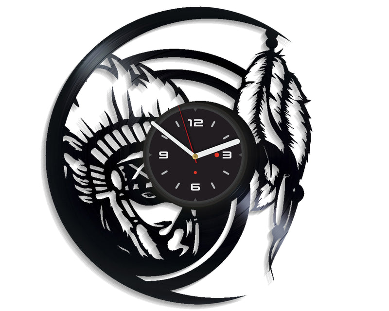 Vinil Clock indian, Wall Clock, Vinyl Art, Wall Art, Christmass Gift, Home Decor Clock, indian 3117