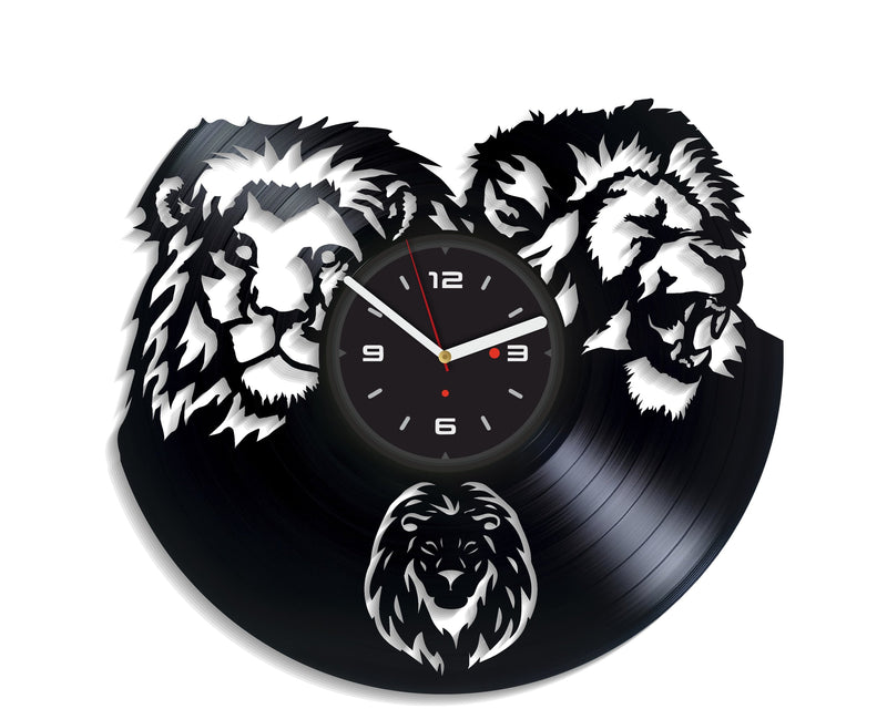 Vinil Clock lion, Wall Clock, Vinyl Art, Wall Art, Christmass Gift, Home Decor Clock, lion 3127