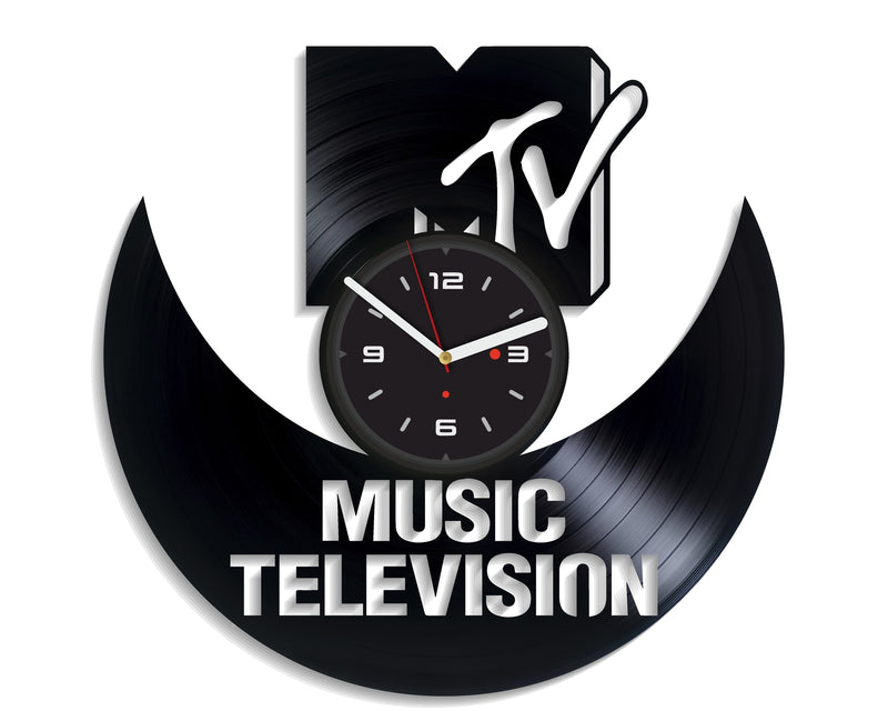 Vinil Clock mtv, Wall Clock, Vinyl Art, Wall Art, Christmass Gift, Home Decor Clock, mtv 1138