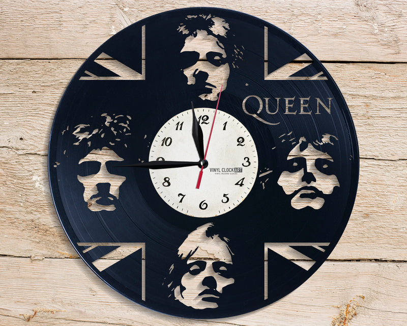 Clock made of recycled LP for Gueen Bohemian occasion