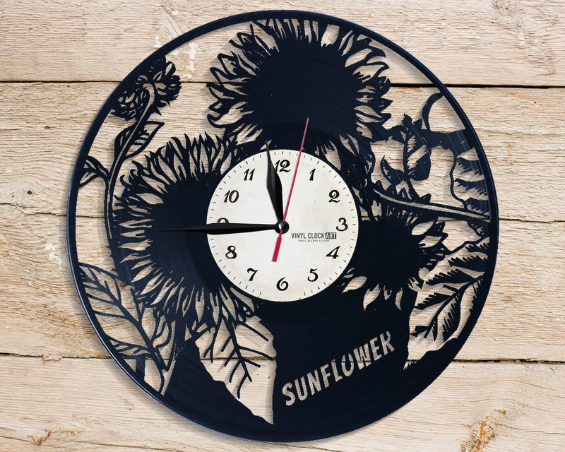 Superior wall clock Yellow Flower