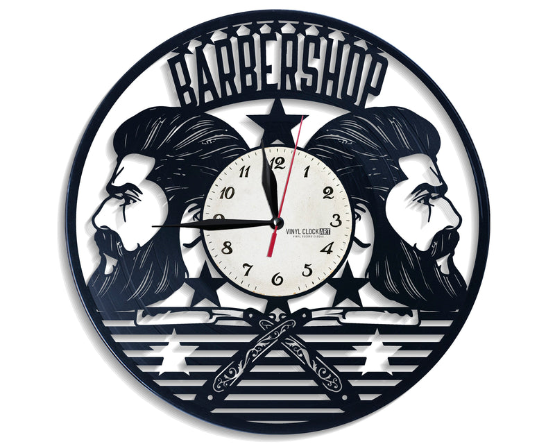 Joke about Barber Men's Hair wall clock