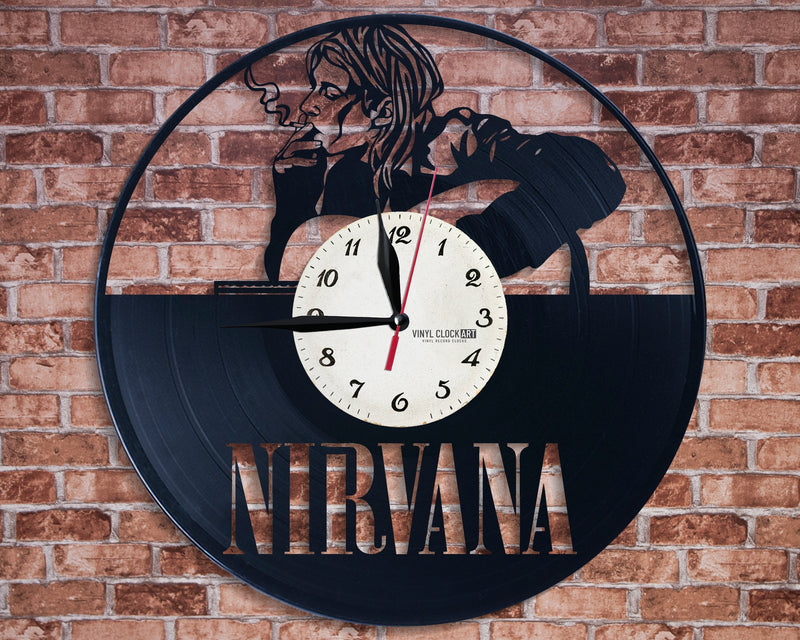 Superb wall clock Kurt Cobain good choice for a gift