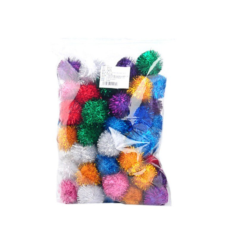 Cute Funny Cat Toys Glitter Sound Paper Ball Cat Toy Creative Colorful Interactive Cat Chew Bouncy Ball Toy Cat Product