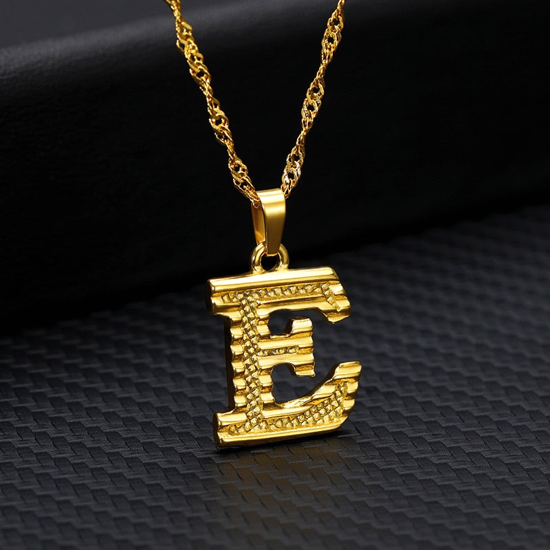 Tiny Gold Initial Letter Necklace For Women Stainless Steel A-Z Alphabet Pendant Necklace Jewelry Christmas Gifts