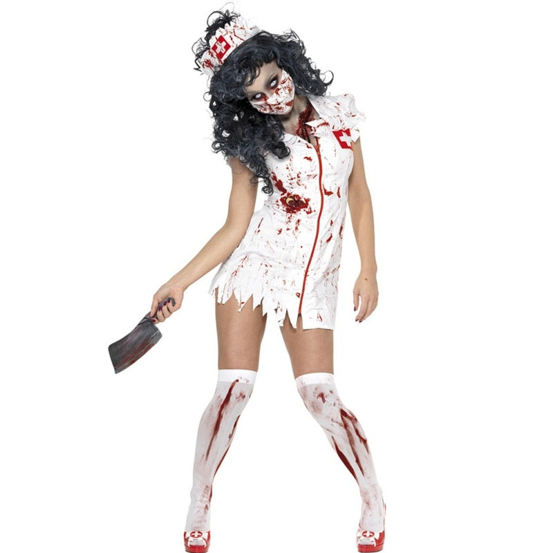Halloween Costume Adult Ragged Sexy Scary Mummy Costumes Blood Sexy Nurse Costumes For Women Cosplay Zombie Costumes