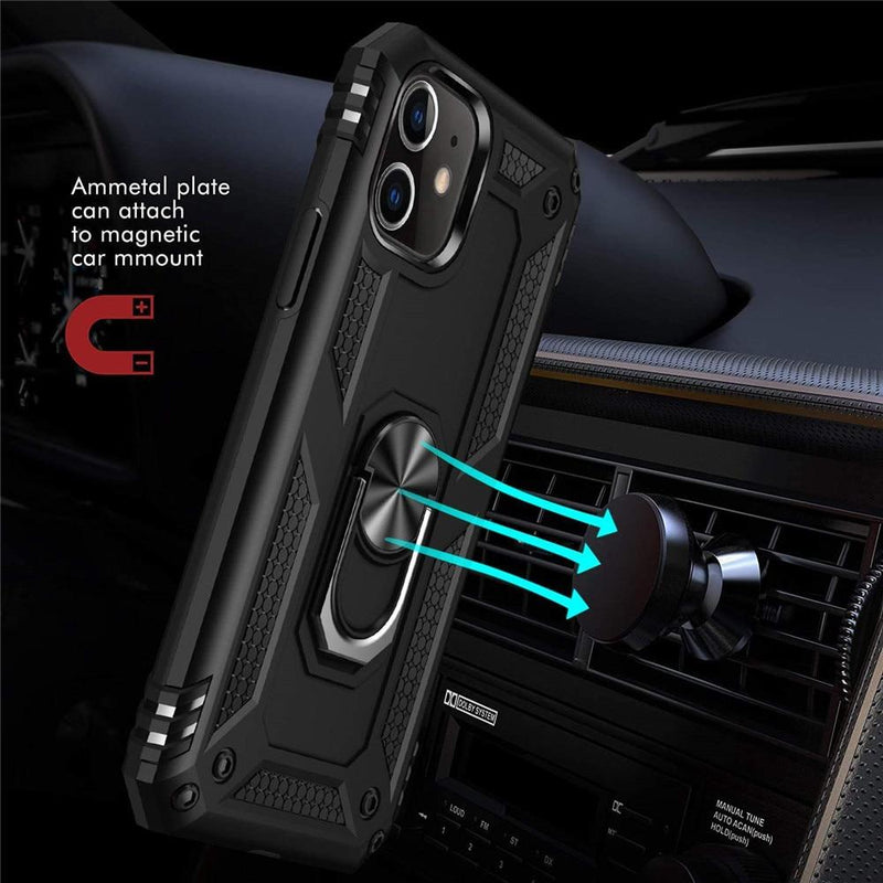 Luxury Armor Shockproof Phone Case For iphone 5 5S SE XS Max 11 Pro XR X 7 8 6 6s Plus Full Cover Car Magnetic Ring Bumper Cases - EtsySales