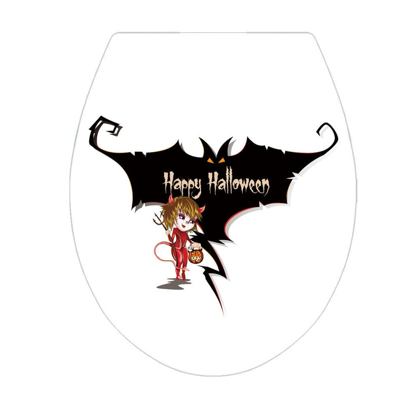 Halloween scary Toilet Stickers horror Fridge Wall Decal party Home Decor Art PVC Vinyl Bathroom Decoration stickers