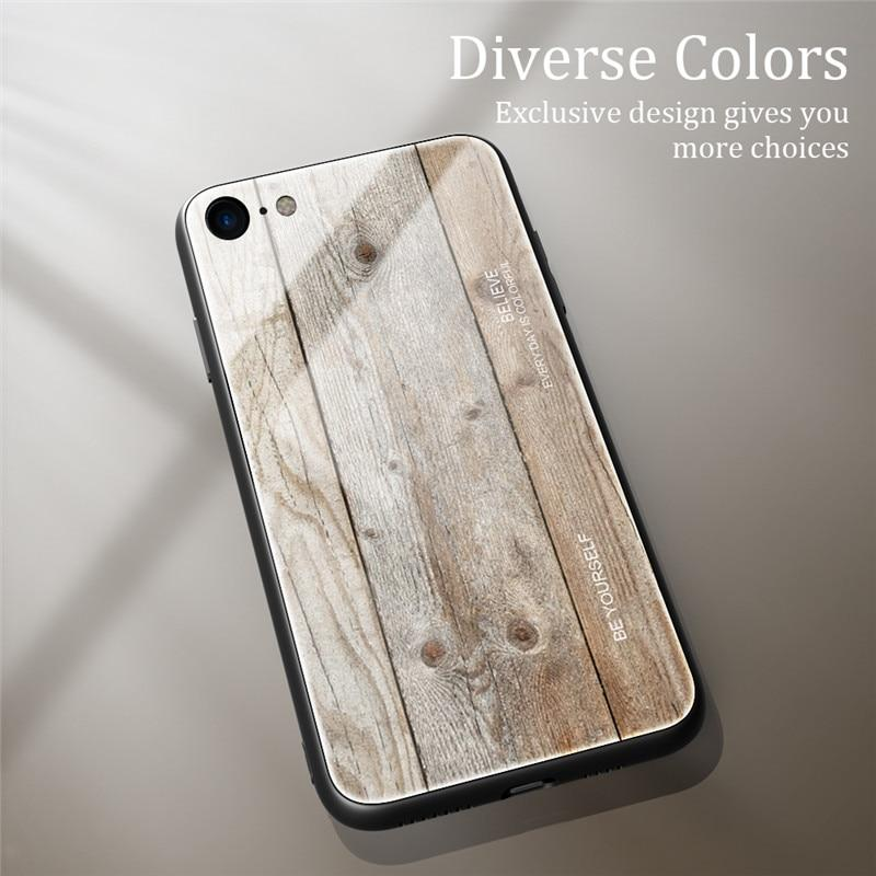 Woodgrain tempered glass phone case For iPhone 11/ Pro/7 /8/ X/ XS/ MAX /11 Pro MAX/XR - EtsySales