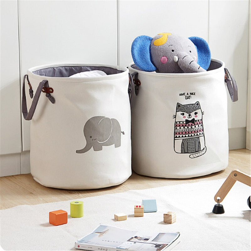 Large Folding Laundry Basket With Lid Toy Storage Baskets Bin For Kids Dog Toys Clothes Organizer Cute Animal Laundry bucket - EtsySales