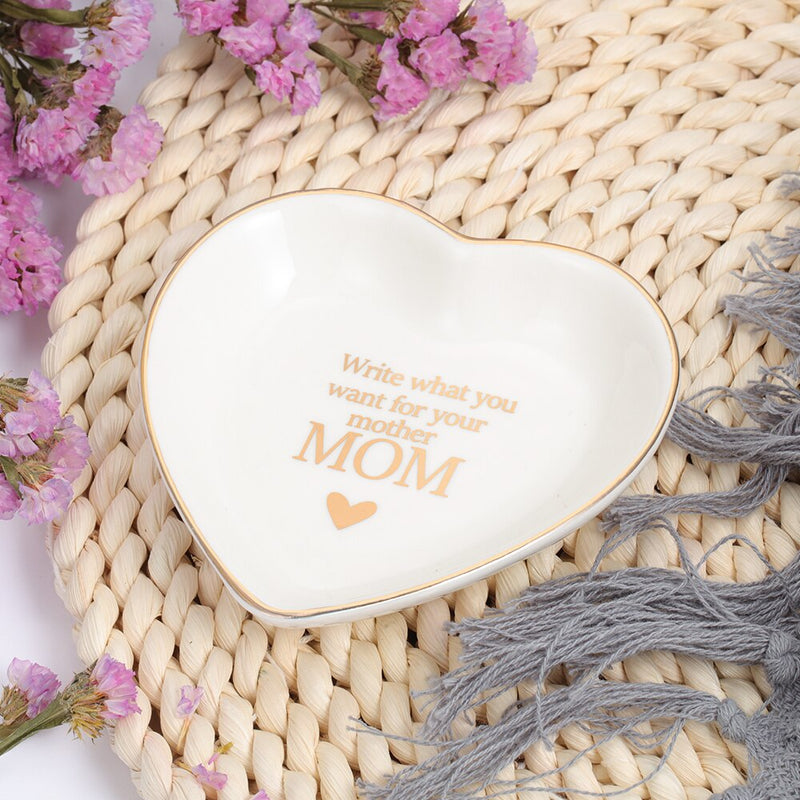 Personalized Ring Ceramic Dish for Jewelry Customized Text Trays Decorative Jewelry Wedding Birthday Mothers Day Gift