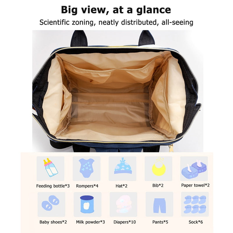Mummy Maternity Nappy Bag Stroller bolsa Large Capacity Baby Travel Backpack Mommy Nursing Bag Baby Care Changing Diaper Bag