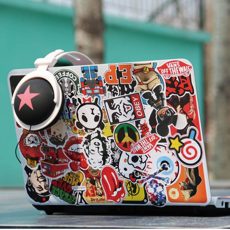 Cool Sticker decoration Film for a cell phone for iPad Guitar Travel Case Sticker Door Laptop Luggage Car Bike Random