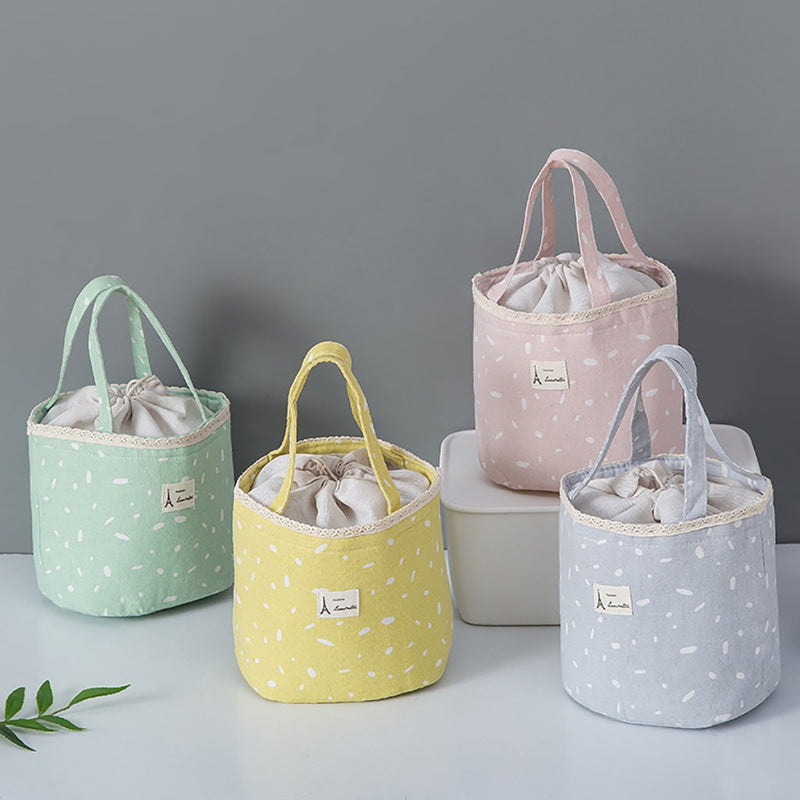 Insulated Thermal Lunch Bag Portable Food Storage Bags Women Girls Travel Working Bento Box Outdoor Camping Drinks Fruit Bags